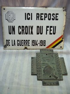 Belgian house and grave plate of a Veteran, a fire cruiser.