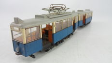 Liliput H0 - 19100 - Two-piece tram in blue and beige