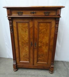 Wooden China cabinet with cutlery drawer, first half of 20 century