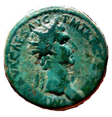 Roman Empire - Nerva (96 - 98 A.D.) bronze dupondius (13,87 g., 27 mm.) minted in Rome in 97 A.D. LIBERTAS PVBLICA. S. C.