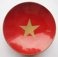 Beautiful Japanese Sake Cup Imperial Army; with imperial Army star from the period of the first world war