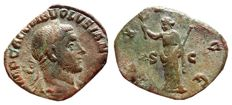 Roman Empire - Volusian (251 - 253 A.D.) bronze sestertius (17,27 g., 28 mm.) from Rome mint, 251-252. PAX AVGG. S-C.
