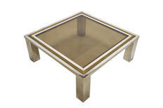 Hollywood Regency style - Italian Brass & Chrome coffee table