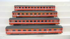 "Roco H0 - 45811/45924 - 4 ""Eurofirma"" international express train carriages 1st and 2nd class of the NMBS/SNCB, SBB and FS (scale 1:87)"