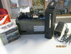 Xbox 360 - 120 gb and 10 games like 10 Star Wars, Rayman, Prototype and more