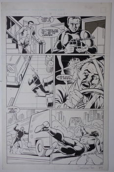 Original Art Page By Bill Jaoska And Ralph Carbera - First Comics - Sable #3 - Page 21  - (1988)