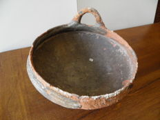 very large red terracotta bowl with black engobe, Roman Empire - dia 200 mm