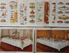 10 prints by an unknown artist - Food and the art of dining  - Tables, Meat, Fish, Salad, Fruits & more! - early 20th century