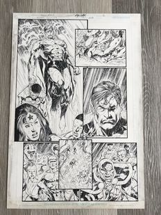 Original Art Page By Marc Campos And Ivan Reis - DC Comics - Action Comics #818 - Page 16 - (2004)