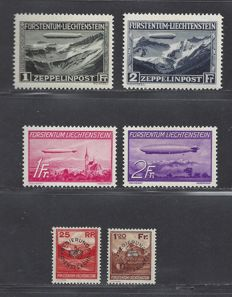 Liechtenstein 1931/1933 - Three different series - Michel 114/115, 149/150 and Dienst 9/10