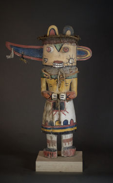Special KACHINA Doll from the HOPI Indians with wing ears. Amerindians ; USA.