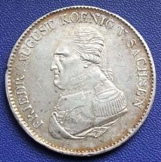 Old Germany, Saxony - Conventionsthaler 1823 - silver