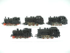 Märklin H0 - 3029/3000 - 5 steam locomotives BR 89 and T3 of the DB [306P]