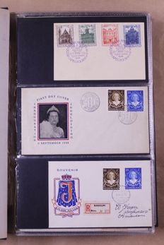 Netherlands and Overseas 1948/1980 – Collection of First Day Covers in two Davo albums and one Importa album.