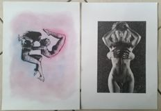 Graphic art; Lot of 2 pictures by Ben Vista - 2012