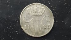 The Netherlands – 5 cents 1825B Willem I – silver