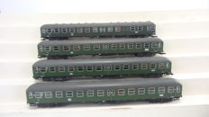 Roco H0 - 44680/44681/44682 - fout carriages of the DB (1:97 length scale)