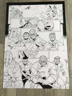 Original Art Page By Andie Tong - Marvel Comics /Panini Magazine - Spectacular Spider-man #191 - Page 5 - (2009)
