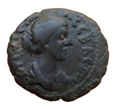 The Roman Provincial - Thrace, Philippopolis, Divus Faustina II (wife of Marcus Aurelius, died 176 AD) - Æ (Bronze, 19mm; 3,74g.)