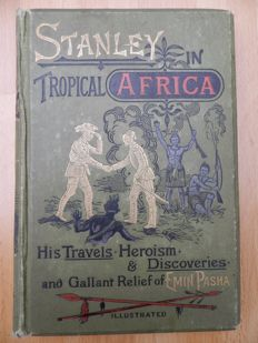 Lot with 3 books about  Stanley and Africa explorations - 1890 / 1891
