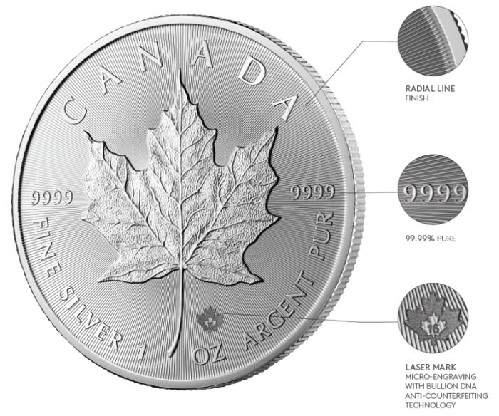 10x New silver Maple Leaf coin 2017