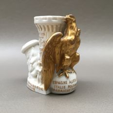 Figural porcelain pipe, Imperial eagle and Napoleon - France, ca. 1880