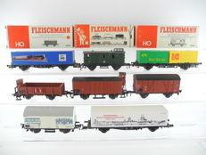 Fleischmann H0 - 5046/20/and others - 8 various freight wagons of the DB [294 P]