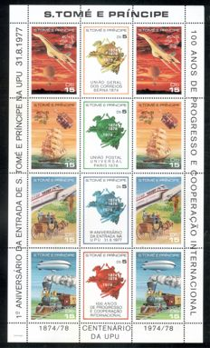 Sao Tomé et Principé 1977/1984 – collection of blocks and small sheet