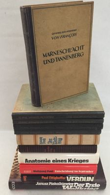 WW I; Lot with eight German works in eleven bindings about WW I - 1920/1988