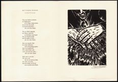 Frans Masereel (1889-1972) - Graphics with poem by Kurt Tucholsky (1890-1935) - Large-sized signed woodcut - 1964
