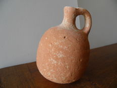 pitcher with one handle made of red terracotta - Roman Empire - 130 mm