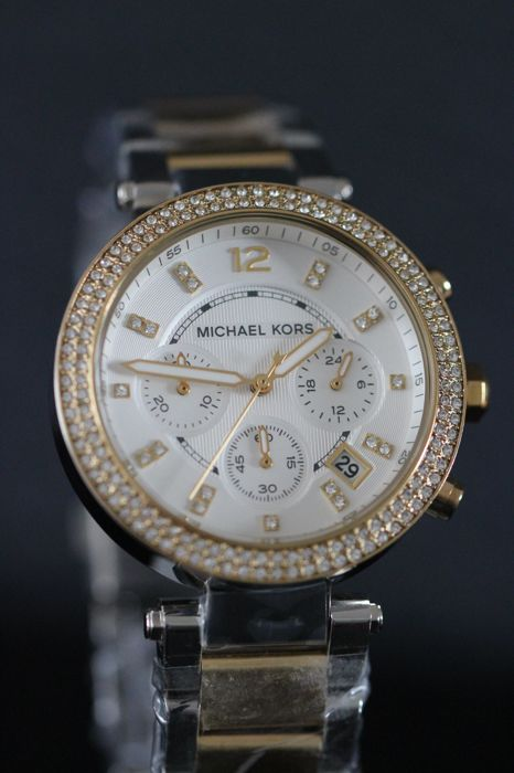 Michael Kors Parker MK5626 GP & SS women's wristwatch - never worn