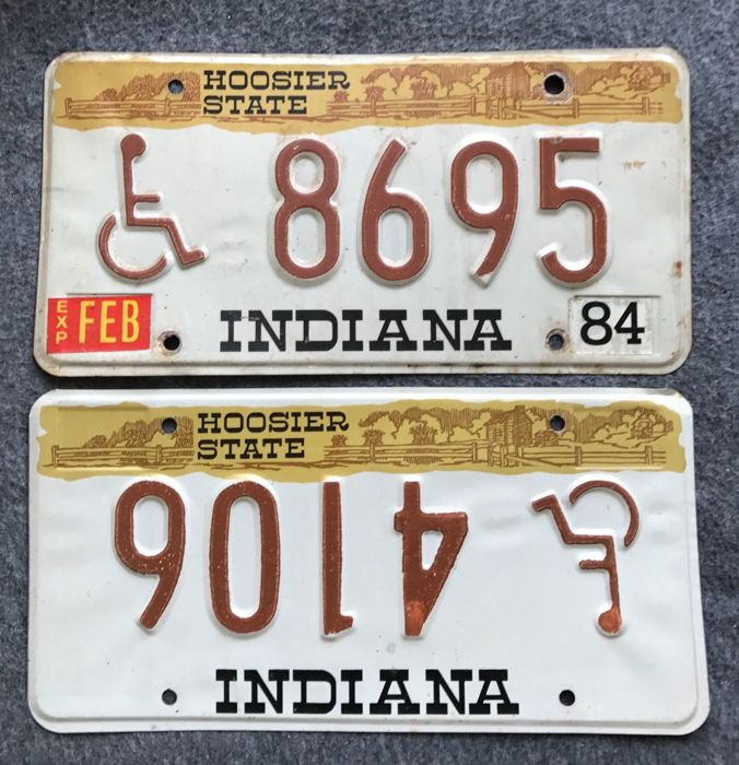 State of INDIANA - ERROR disabled/handicapped wheelchair drivers license plates.