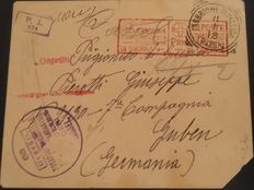 Italy, Kingdom 1918 – Letter (postage exemption) from Italian prisoners of war/internees