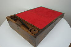 A mahogany writing box, early 20th century