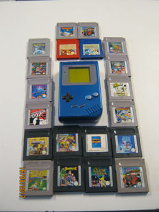 Custom made Nintendo Classic Gameboy incl 20 games like Pokemon , James Bond , Quest of Camelot and more