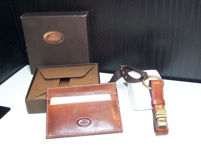 The Bridge - Made in Florence credit card holder and keyring in leather 895b67d24e