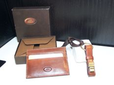 The Bridge - Made in Florencecredit card holder and keyring in leather, hand-made by Italian artisans