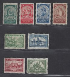 German Empire 1924 - Various series - Michel 351/354 and 364/367