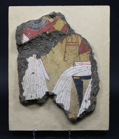 Egyptian Wall Painting.   28 cm high.