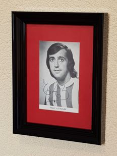 Willy vd Kuijlen - Top scorer of all time Dutch Premiership and Mr. PSV - very old autographed official photo card of PSV + COA