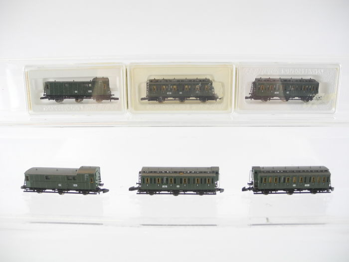 "Märklin Z - 8704/-03/a.o - 6-piece passenger train ""compartment carriages"" of the DB [250]"