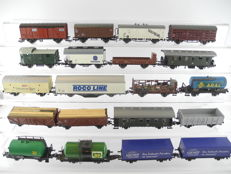 Liliput/Lima/Piko/Roco H0 - 20 various freight- and passenger carriages of different railway companies [283P]