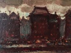 Unknown (20th century) - Expressionistic Stadszicht