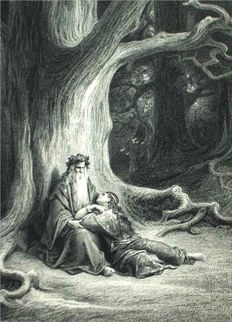 Gustave Doré; [Lord Alfred Tennyson] - The Story of Merlin and Vivien - (1879)