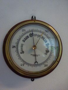 John Barker & Co Ltd brass ship's barometer