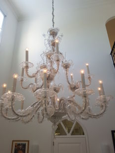 Large pendant lamp made of Murano glass, Italy, second half of the 20th century