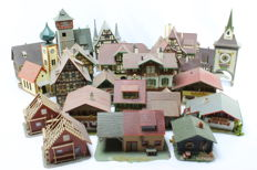 Faller/Vollmer/Kibri/Pola H0 - 22 piece set with urban houses and buildings