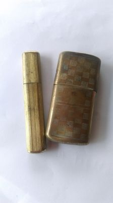 "Lot of 2 lighters of French soldiers ""poilus"" WW1 - War 1914/1918"