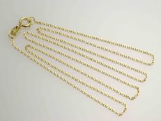 18 kt gold necklace, 750/1000.